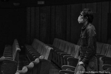 """Sacile, 22/05/2021 - Controtempo - Teatro Zancanaro - Il Volo del Jazz - GIANLUCA PETRELLA """"Cosmic Renaissance"""" - Gianluca Petrella: trombone, laptop, moog, effetti - Mirco Rubegni: tromba - Blake Franchetto: basso - Federico Scettri: batteria, laptop25 - Simone Padovani: percussioni - Foto Luca A. d'Agostino / Phocus Agency © 2021"""